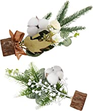 TOYANDONA 2pcs Mini Artificial Christmas Tree Tabletop Cotton Branches for Holiday Seasonal Xmas Table Centerpiece Showcas...