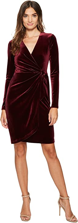 Maggy London - Velvet Wrap Dress