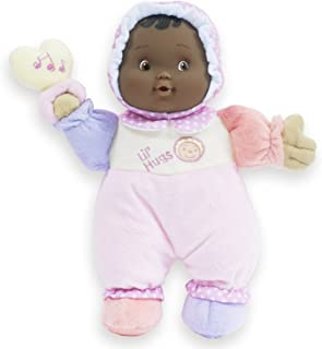 JC Toys Lil' Hugs African American Pink Soft Body - Your First Baby Doll – Designed by Berenguer – Ages 0+
