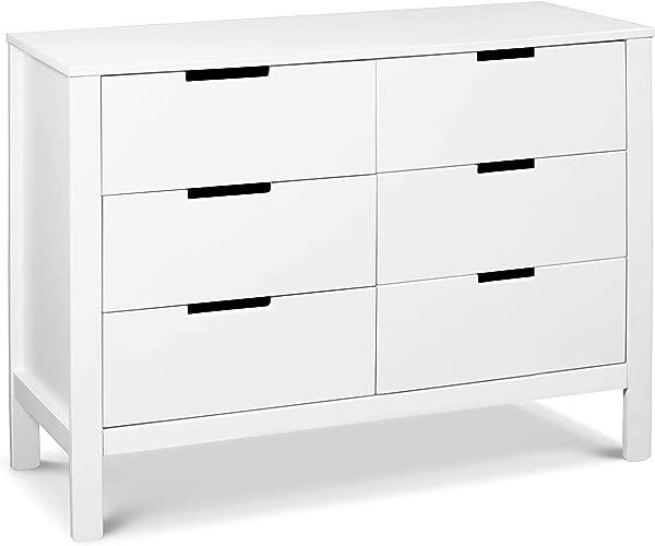 Carter S By Davinci Colby 6 Drawer Dresser White
