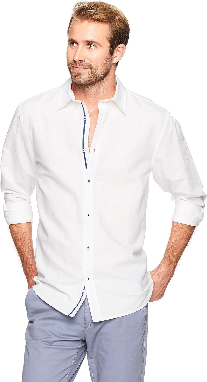 Isle Bay Linens Men's Standard-Fit Long Sleeve Casual Shirt