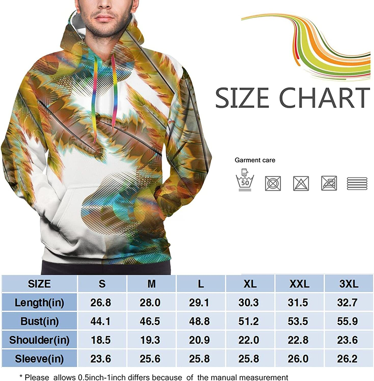Hoodie For Men Women Unisex Colorful Birds Feathers 3d Printed Hooded Sweatshirt