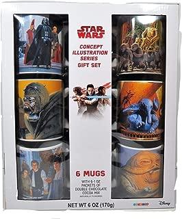 STAR WARS Concept illustration Series Gift Set 6 Ceramic Coffee Tea 12 Oz Mugs Set