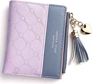 Wallet for Women Small Compact Wallet Bifold, RFID Wallet Credit Card Holder Mini Bifold Pocket Wallet