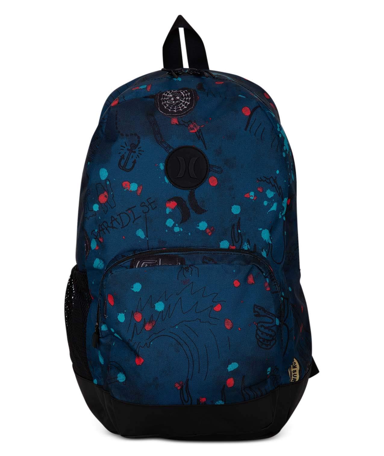 Hurley Herren M Blockade II Scribble Backpack, Blue Force, 1SIZE