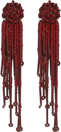 Glitzville Beaded Tassel Earrings