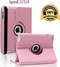 iPad 2/3/4 Case – 360 Degree Rotating Stand Smart Case Protective Cover with Auto..