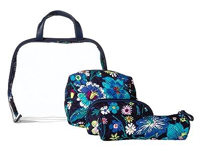 Vera Bradley Iconic Four-Piece Cosmetic Set (Moonlight Garden) Cosmetic Case