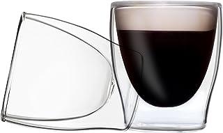 DUOS 2X 80ml Set doppelwandige Espresso Gläser mit Schwebe-