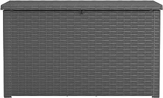 Keter Java XXL 230 Gallon Outdoor Storage Deck Box, Grey