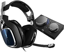 Astro A40 TR Auriculares Gaming con Cable + MixAmp Pro TR, Gen. 4, 7.1 Dolby Surround, Astro Audio V2, 3.5 mm Jack, Audífonos con Micrófono, Etiquetas de Altavoces, Ultra-Ligero, PC/Mac/PS4