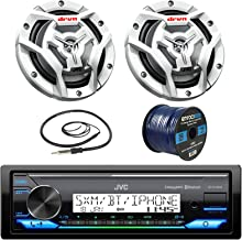 JVC KDX33MBS Marine Boat Yacht Radio Stereo CD Player Receiver Bundle Combo with 2X JVC..