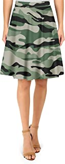 Rainbow Rules Military Camouflage A-Line Skirt - 2XL