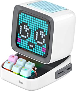Divoom Ditoo Pixel Art Gaming Portable Bluetooth Speaker with App Controlled 16X16 LED Front Panel, Also a Smart Alarm Clo...