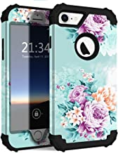 iPhone 8 Case, iPhone 7 case PIXIU Three Layer Heavy Duty Hybrid Sturdy Armor Shockproof Protective Phone Cover Cases for Apple iPhone 8 and iPhone 7 Peony