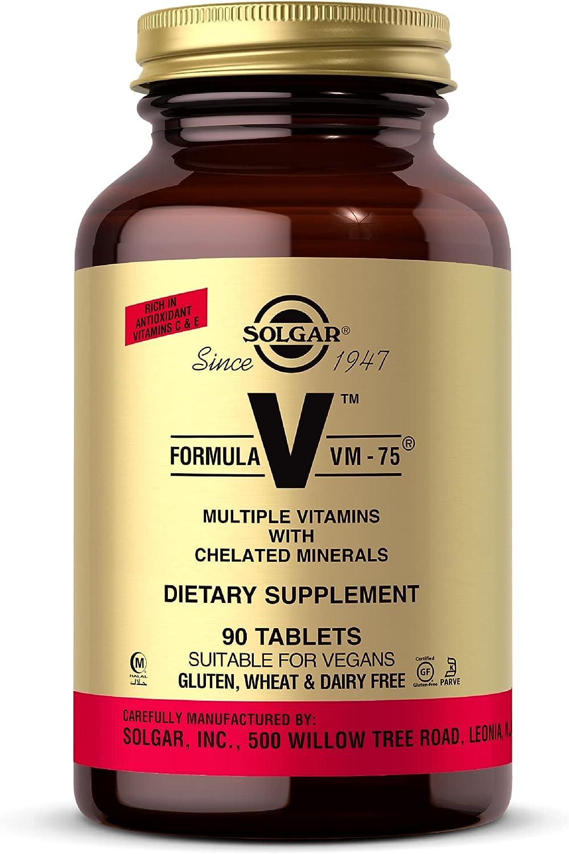 Solgar Formula VM-75 90 Tablets quality assurance Multivitamin Chelated - Mi Max 54% OFF with
