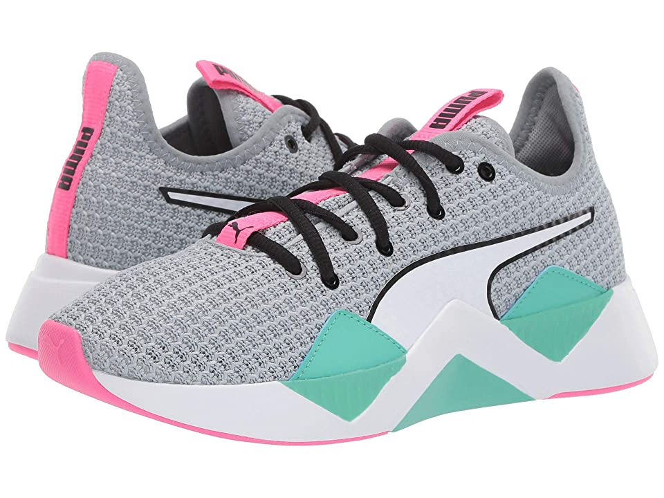 Puma Kids Incite FS Jr (Big Kid) (Quarry/Biscay Green/Knockout Pink) Girls Shoes