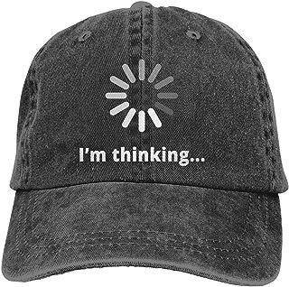 Waldeal Adult Unisex I'm Thinking Computer Nerd Vintage Washed Denim Dat Hat Adjustable Baseball Cap