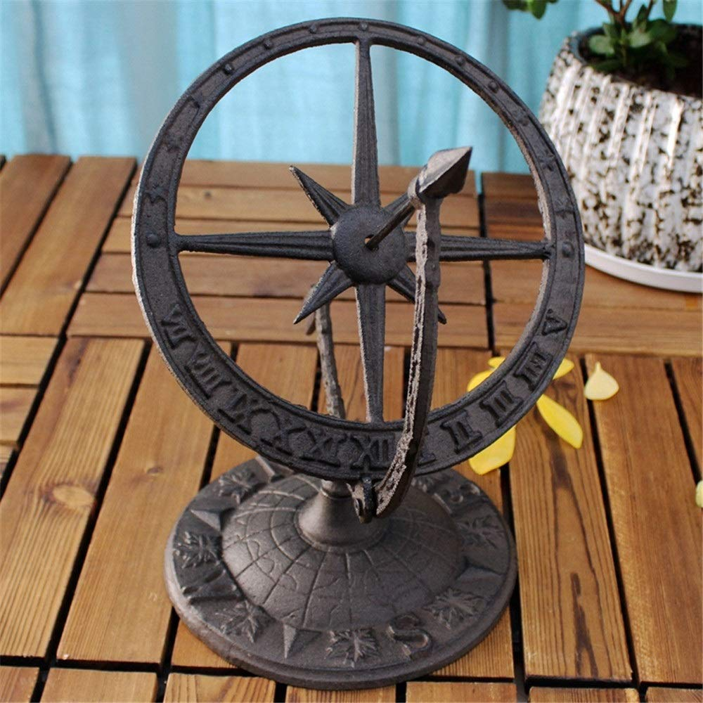 Estatua del Jardín Hierro fundido de la carretilla de jardín decoración del hogar Accesorios Adorno de