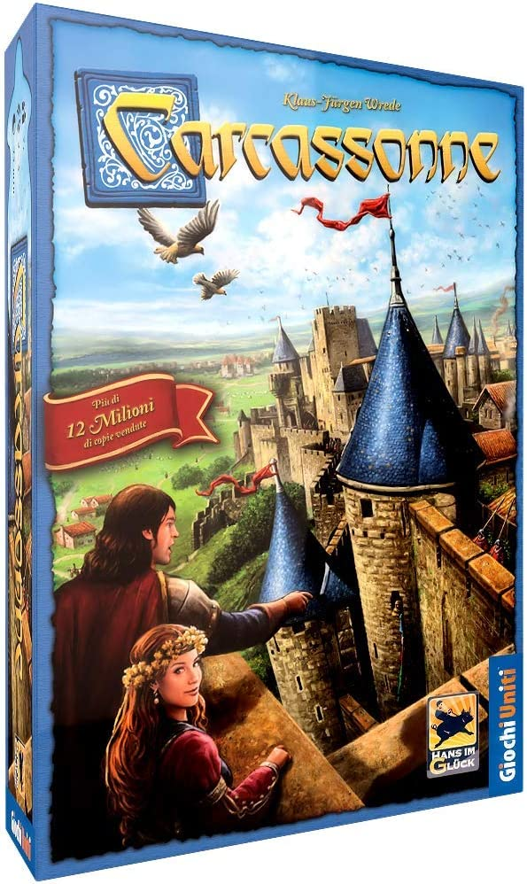 Giochi Uniti Carcassonne - Juego de Estrategia (en Italiano) [Importado de Italia]