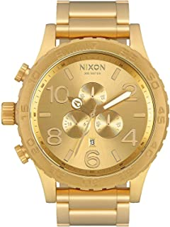 NIXON - Men's 51-30 Chrono A083502 Gold Stainless-Steel Quartz Fashion Watch