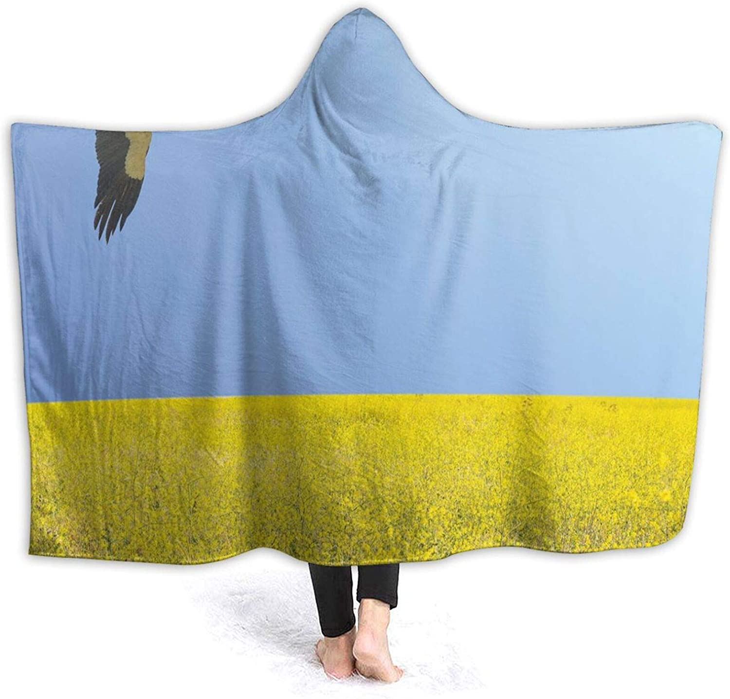 Same day shipping Hooded 55% OFF Blanket Anti-Pilling Flannel Alone Stork in Clear Flying