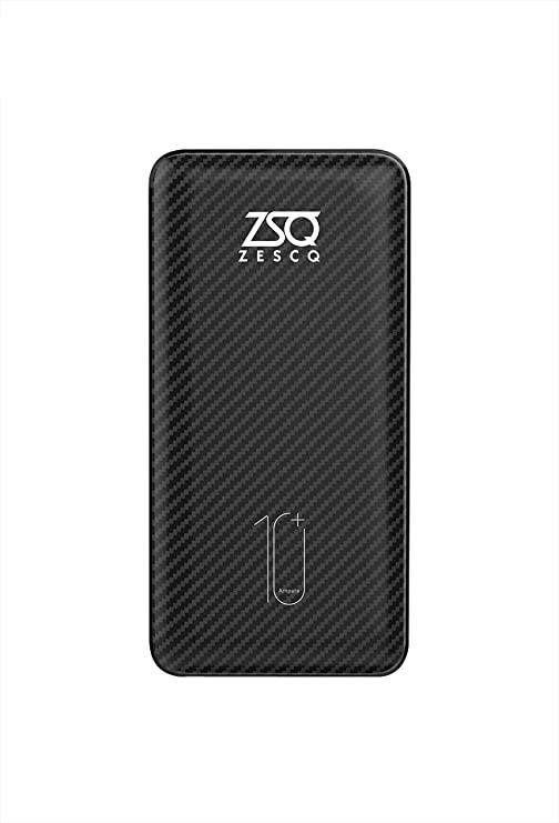 Zescq 10000 mAh Li Polymer ZPB06 Power Bank  Black