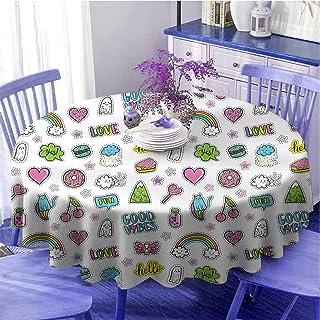 Good Vibes Nappe ronde élégante Motivation Positive Inspiration Concept Pastèque Vacances sur la Table Photo Pour les amis...