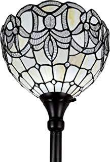 Amora Lighting Tiffany Style Floor Lamp Torchiere Standing 72