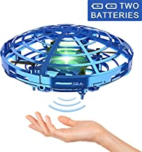 Hand Operated Drones for Kids or Adult - Interactive Infrared Induction Indoor Helicopter Ball with 360° Rotating and Shinning LED Lights,Hand-Controlled Flying Ball Toys 5 6 7 8 9 10 11 12 Years
