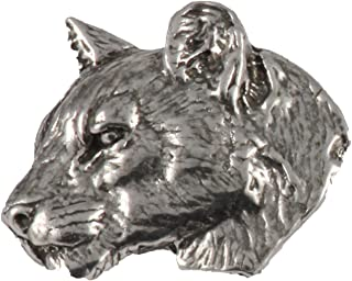 Cougar Mountain Lion Head Mammal Pewter Lapel Pin, Brooch, Jewelry, M047