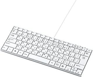サンワサプライ USBスリムキーボード(テンキーなし) ホワイト SKB-SL18WN