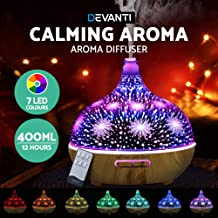 DEVANTI Aroma Aromatherapy Diffuser 3D LED Oil Firework Air Humidifier Purifier 400 ML