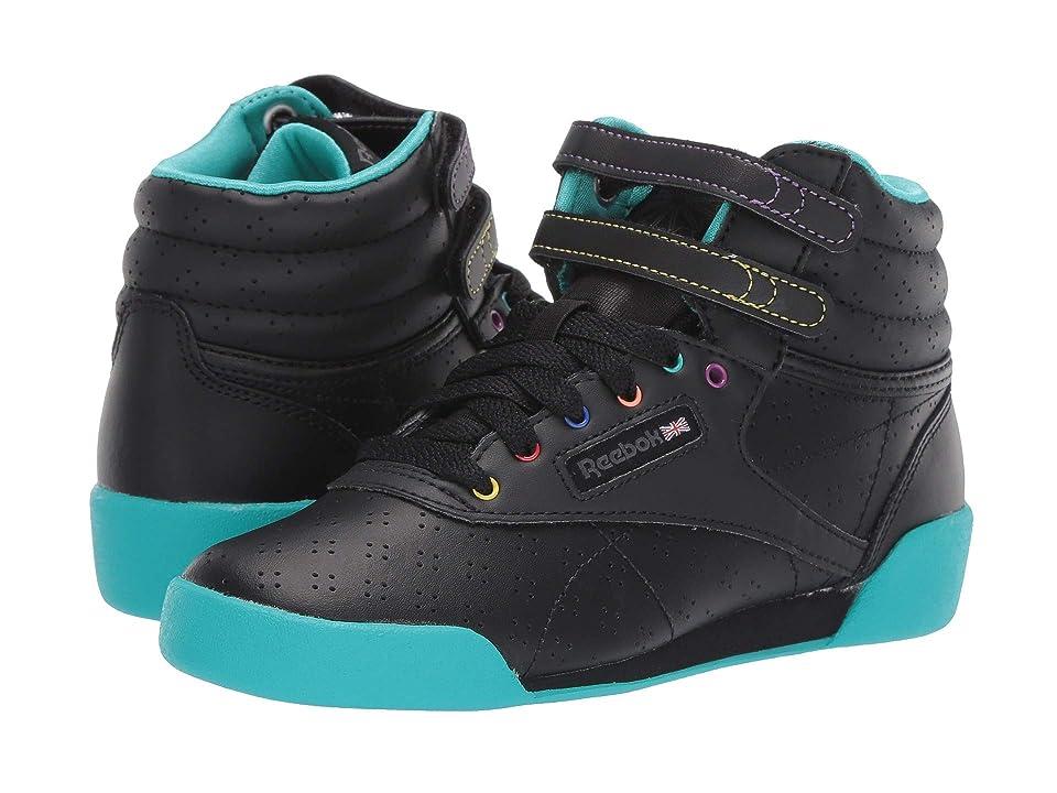 Reebok Kids F/S Hi (Toddler/Youth) (Black/Teal/Grey) Girls Shoes
