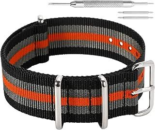 18mm 20mm 22mm 24mm Negro Rojo Correa de Reloj de Nylon Nylon Militar Duradero NATO Estilo Correas de Reloj Bandas Reemplazos para Hombres