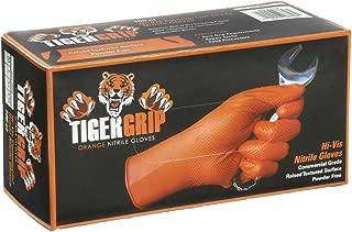 EPPCO TigerGrip 8-Mil Nitrile Gloves – Orange, XX-Large, Box of 90 - Latex-Free, Powder-Free, Superior Grip