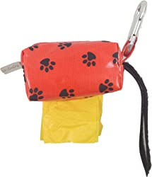 Doggie Walk Bags Designer Duffle Bags for Dogs, Ocean, Orange Paw, Yellow