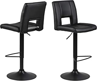 Amazon Brand - Movian Sarnen - Juego de 2 taburetes de bar 52 x 415 x 115 cm negro