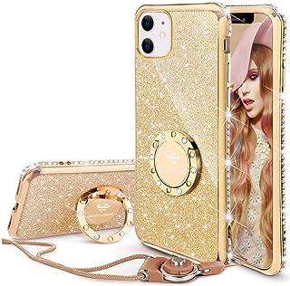 OCYCLONE iPhone 11 Case Blue, Cute Glitter Sparkle Bling Diamond Rhinestone Bumper Case with Ring Kickstand Women Girls So...