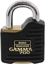 Burg-Wächter Gamma 700 55 Hangslot, 2 sleutels, outdoor, massief, klein, met rubber, 9 mm strijkdikte, 360 g, Made in Germany
