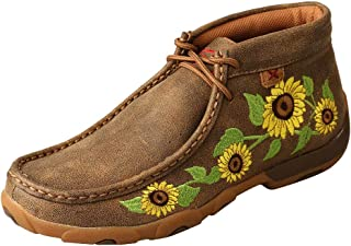 Twisted X Women's Chukka Leather Driving Moccasins