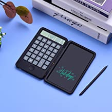 $22 » YUNEED Office Electronics Standard Digit Calculator with Writing Notepad Calculator LCD Basic Office Rechargeable