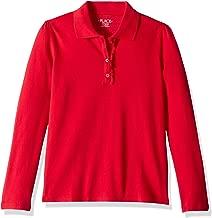 girls red school uniform