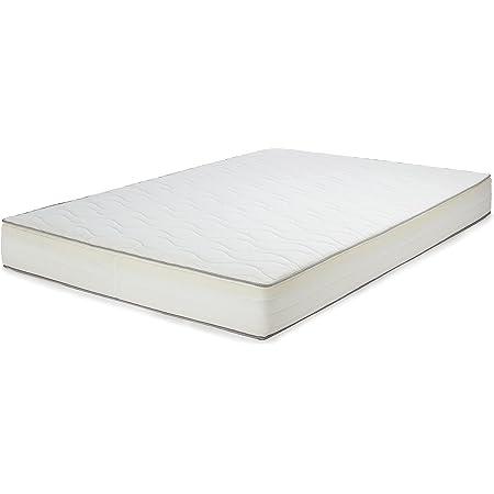 Amazon Basics Matelas à Ressorts Extra Confortable avec Sept Zones Douces, 140 x 190 cm - Moyen (H3)