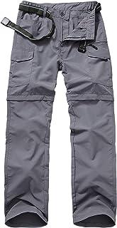 Men's Outdoor Quick Dry Convertible Lightweight Hiking Fishing Zip Off Cargo Work Pant #ZB02