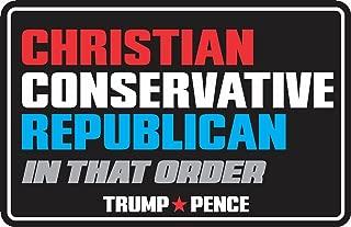 ION Graphics Christian Conservative Republican Trump Pence Decal Bumper Sticker Political