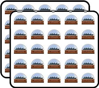 Philippines Snow Globe Art Decor Sticker for Scrapbooking, Calendars, Arts, Kids DIY Crafts, Album, Bullet Journals 50 Pack