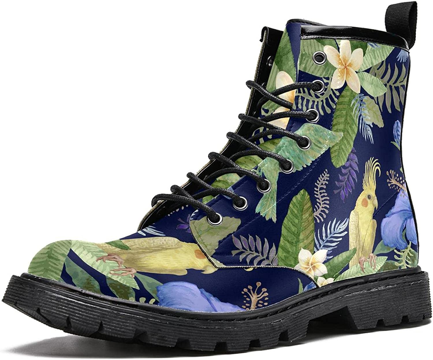 Flowers and Over item handling the parrot Men's Stylish Boot Boots Top free shipping High Hiking