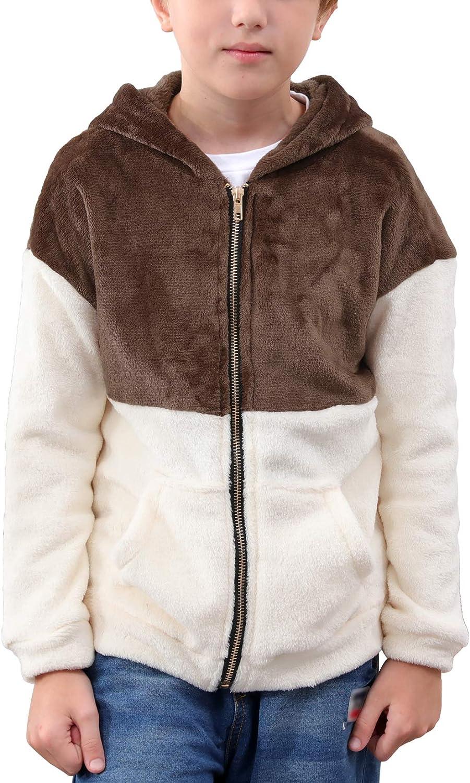 NAVINS Boys Contrast Patchwork Full Zip Sweatshirt Hoodies Casua