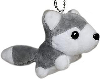 "Lucore 5"" Husky Puppy Plush Stuffed Animal Toy Keychain - Mini Sized Hanging Dog Doll Lucky Charm"